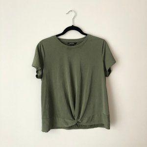 💕Banana Republic Green Velours Shirt